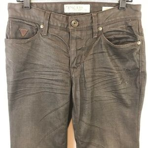 Guess Lincoln Slim Straight Jeans Waxed Cotton